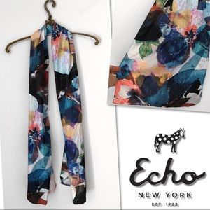 🆕 ECHO OBLONG WATERCOLOR FLORAL WRAP SCARF